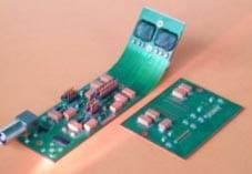 HDI-Starrflexschaltungen mit 70 µm-Leiterstrukturen und hochpoligen Dice, nach Designkonzept von GED im Jahr 1995