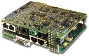 Beispiel: hochintegriertes Prozessorsystem mit vier eng verschachtelten Leiterplatten