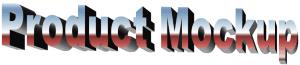 Mockup-Schriftzug