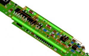 Gefaltete Flexschaltung für eine stiftartige Sensorbauform