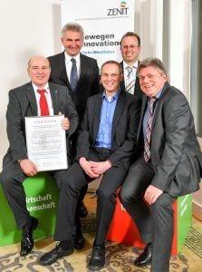 Bild: GED erhält Auszeichnung beim Innovationspreis von ZENIT