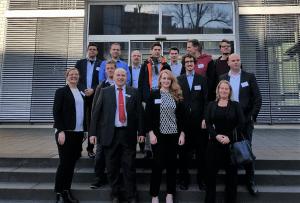 Gruppenfoto Start des Technologienetzwerks 3D-Elektronik