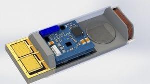 Bild: GED IoT-MultisensorNode mit Gehäuse in nur 40 x 20mm Baugröße