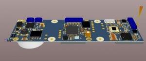 Bild: IoT-Sensorknoten mit Funk und Energy-Harvesting-Schaltung, der zusammengefaltet die Größe eines Fingernagels aufweist (15 x 20mm)